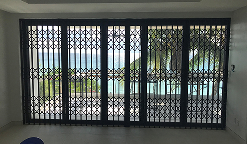 High-End Retractable Security Shutters for Hotels from Trellis Door Co