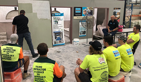 TAFE Pool Installation System Training with LATICRETE