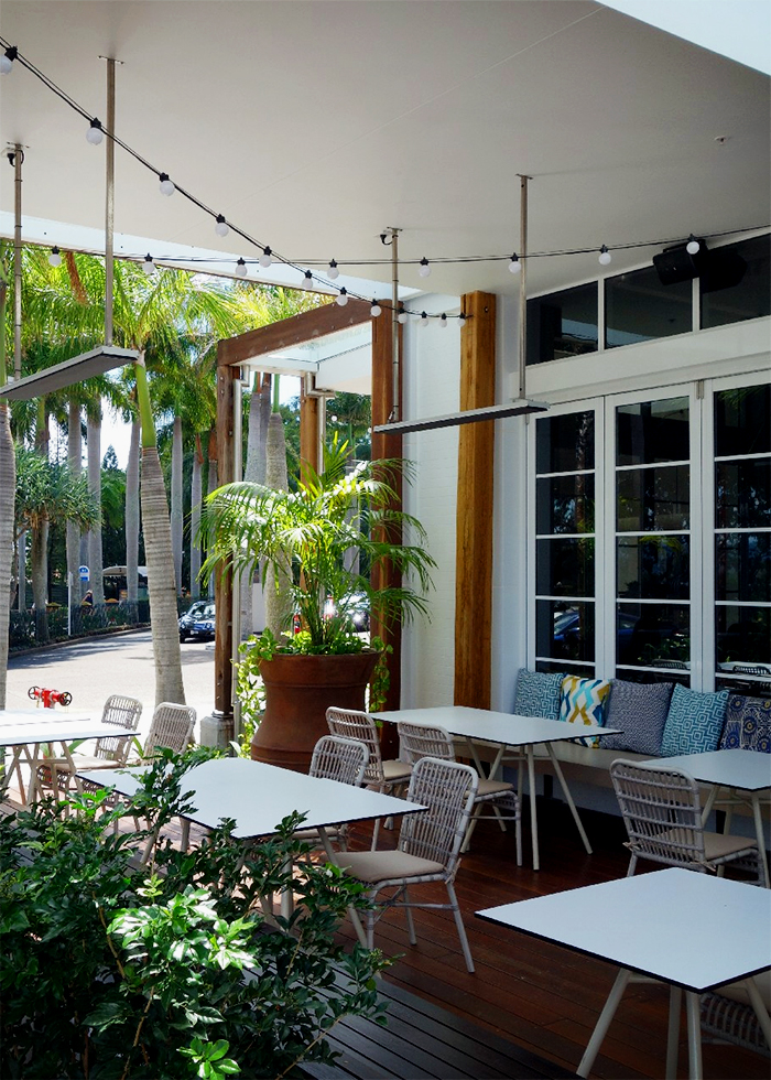 Outdoor Dining Area Heating for Jupiters by Thermofilm