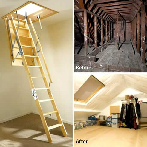 & Attic Ladders - Donu0027t waste your roof space