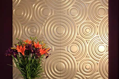 Large circular decorative wall panels by 3D Wall Panels