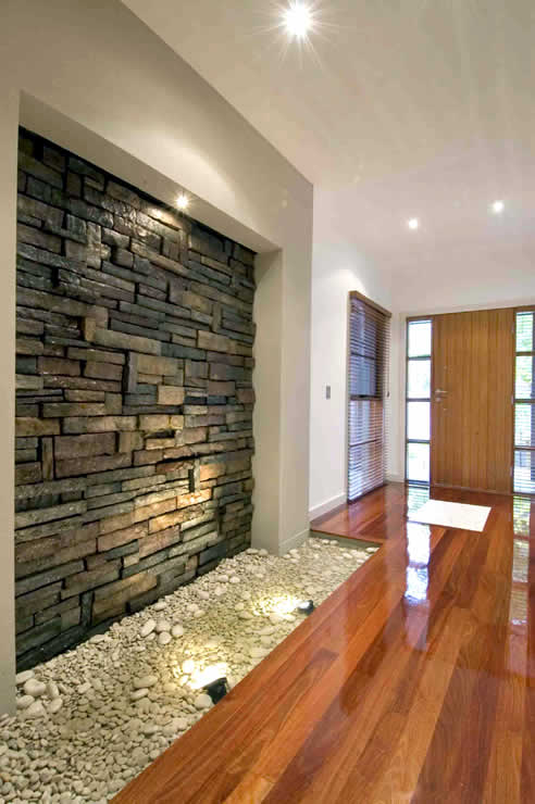 Interior stone walls with craftstone from austech external - Paredes de piedra interiores ...