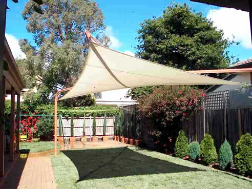 Floating Shade Sails From Mulders Over Garden Beds