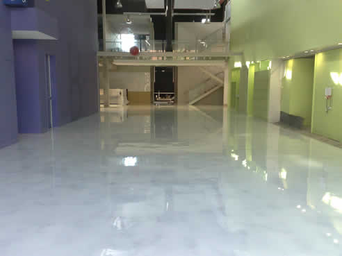Faux White Marble Polished Concrete By Sexy Concrete Coatings