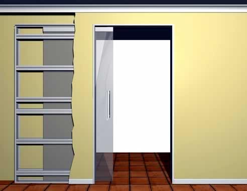 Glass cavity door sliders from Tornex Door Systems with standard architrave & Glass cavity door sliders from Tornex Door Systems with standard ...