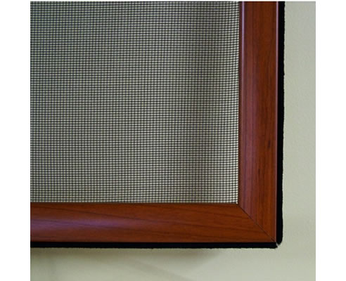 Decoscreen Aluminium Insect Screen With Wood Grain Finish