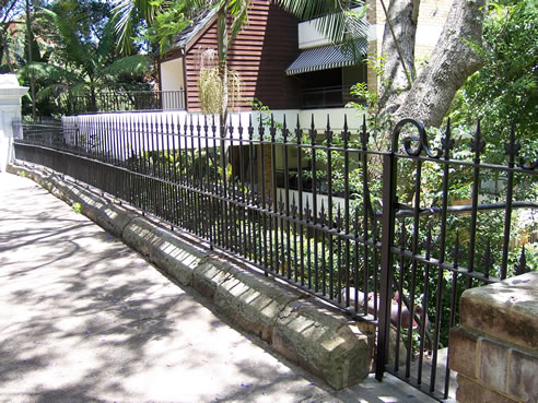 Wrought Iron Palisade Fencing From Wrought Artworks