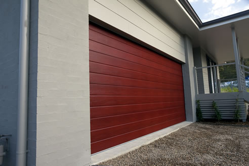 Timber Finish Garage Doors By Steel Line Decowood Mittagong Nsw 2575