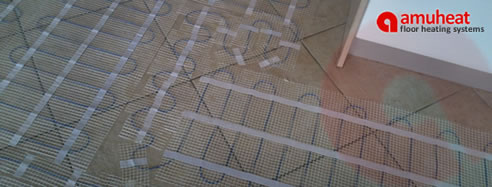 under tile floor heating