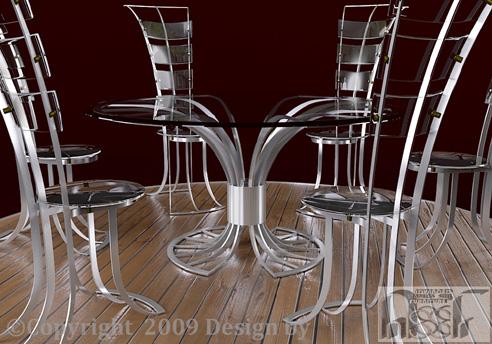 Asian style metal furniture