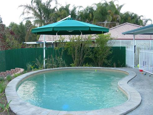 Cantilevered Swimming Pool Umbrellas Ultrashade Virginia Qld 4014