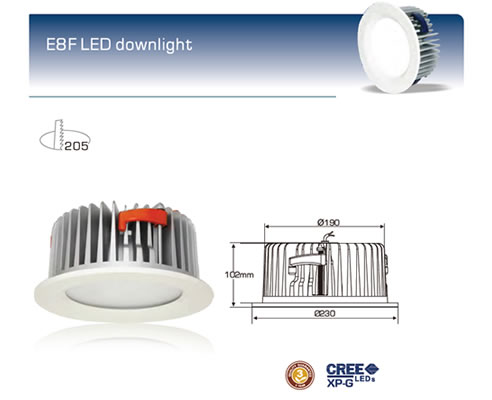Large commercial led downlight optic fibre led lighting large commercial led downlight by optic fibre led lighting solutions mozeypictures Images