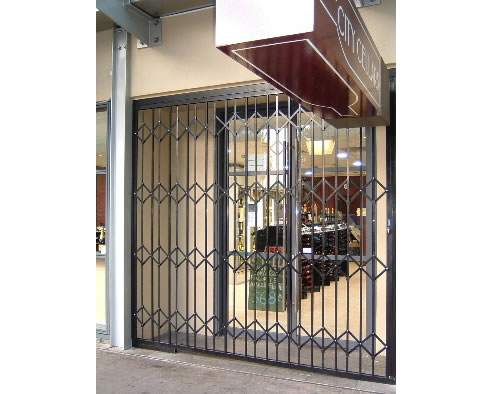 concertina security doors  sc 1 st  Spec-Net & Concertina Security Doors The Australian Trellis Door Company