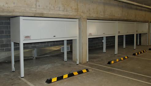 Car park storage boxes space commander auburn nsw 2144 for Apartment garage storage
