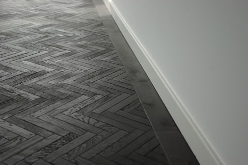 Black Herringbone Timber Floor The Good House