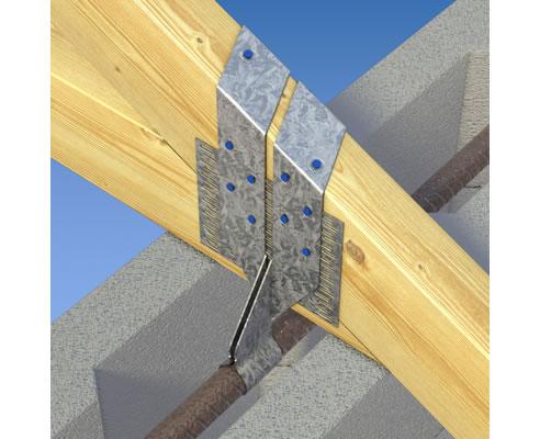 Tie Down Roof Truss To Masonry With Blockfast Mitek