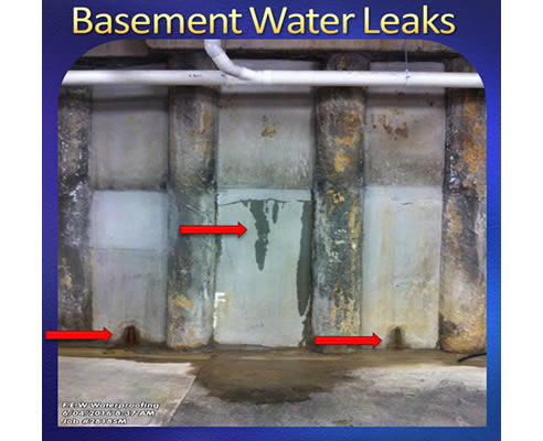 fixing basement water leaks from building services australia