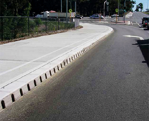 Compact Linear Drainage System Kerbdrain Aco