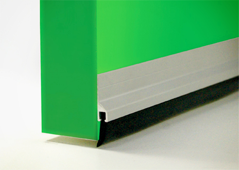 Extruded aluminium door seal from Cowdroy
