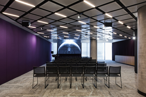 SUPACOUSTIC floating perforated ceiling panels