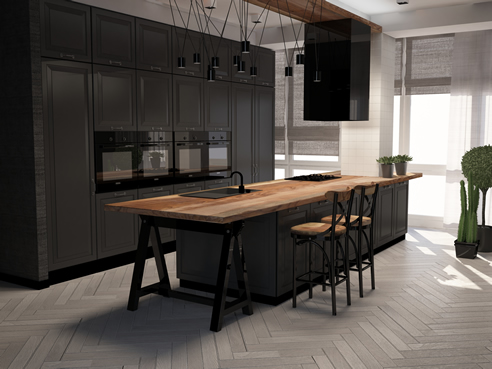 Black Kitchen Cabinetry Stains and Coatings | Mirotone