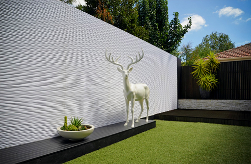 Textured wall from 3D Wall Panels