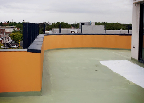 Waterproofed balcony surface from Cocoon Coatings