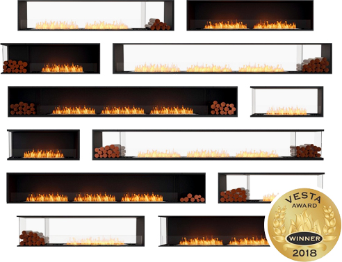 e-NRG bioethanol fireplaces from EcoSmart Fire