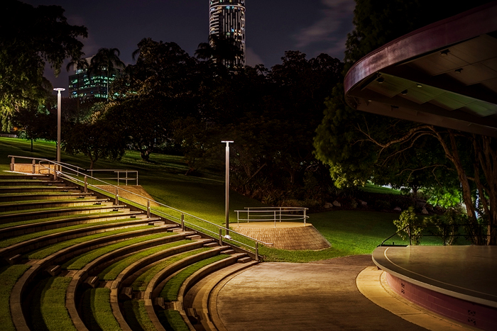 Roma Street Parkland upgraded existing WE-EF luminaires to new LED versions