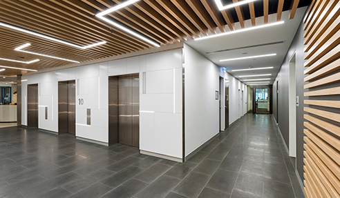 Dramatic Lift Lobby Fitout with MAXI BEAM