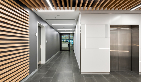 SUPAWOOD Lift Lobby Fitout with MAXI BEAM