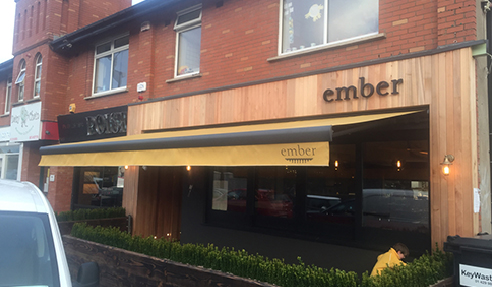 Folding Arm Awnings at Ember