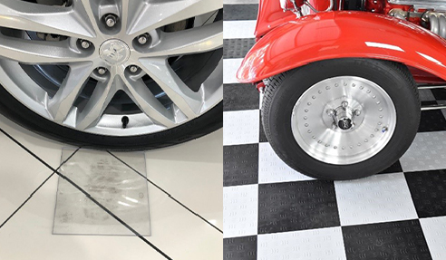 Polycarbonate Pads for Car Showroom Floors from Allplastics