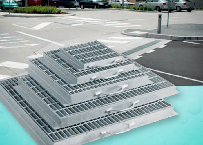 Anti-Slip Stainless Steel Heelguard Grates for Public Spaces by Hydro