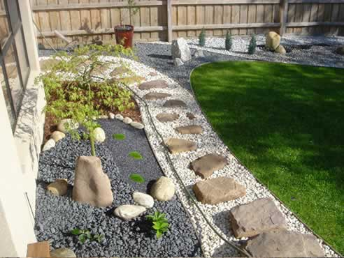 D cor stones first garden beauty contest vote now for Pebbles in backyard