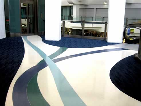 Architectural terrazzite the terrazzo flooring alternative for Design terrazzo
