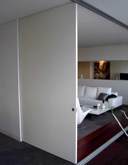 Cs Cavity Sliders Full Height Detail Flush Finish Door