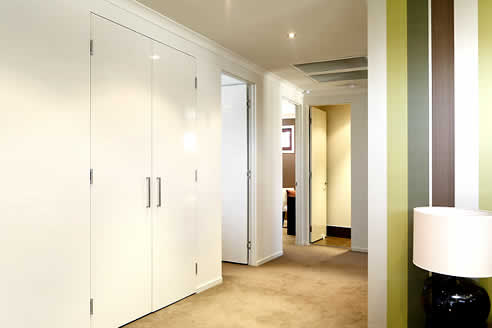 Euro Jamb flush finish metal door by Altro Building Systems