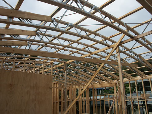Curved Roof Trusses With Posistrut Mitek Australia