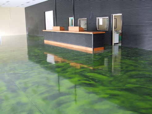 Amazing Green Resin Floor