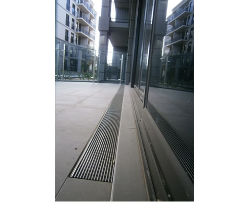 Balcony Drain With Stainless Steel Grate Aco