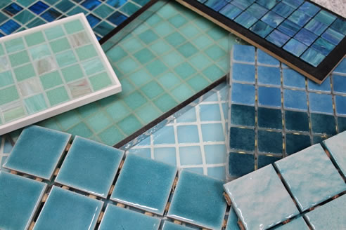Blue Green Swimming Pool Tiles Mdc Mosaics