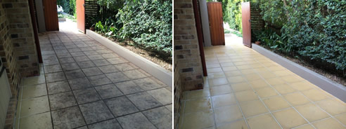 Removing Leaf Stains From Concrete Pavers Dry Treat