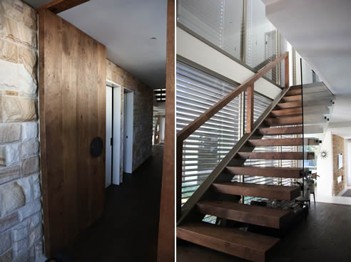 dark oak cantilevered stair