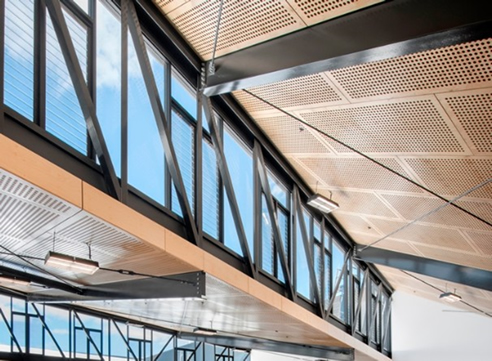 Perforated Acoustic Ply Ceiling Panels Keystone Acoustics