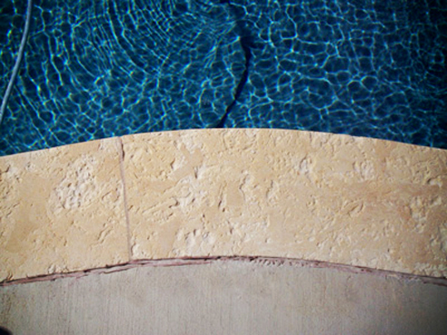Seal travertine saltwater pools with Dry-Treat