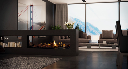 Flexible flue fireplaces from Escea
