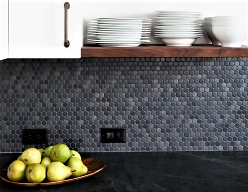 round backsplash tiles