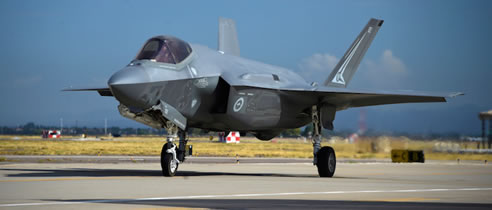 F-35A Lightning II aircraft at Tindal RAAF base