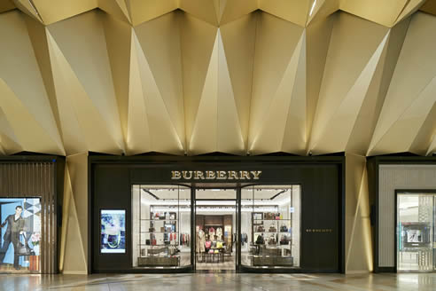 Ceiling Burberry Melbourne Airport T2 International